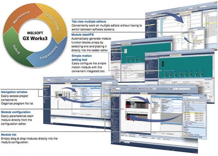Mitsubishi GX Works3 PLC Programming Software V01-2L0C-E